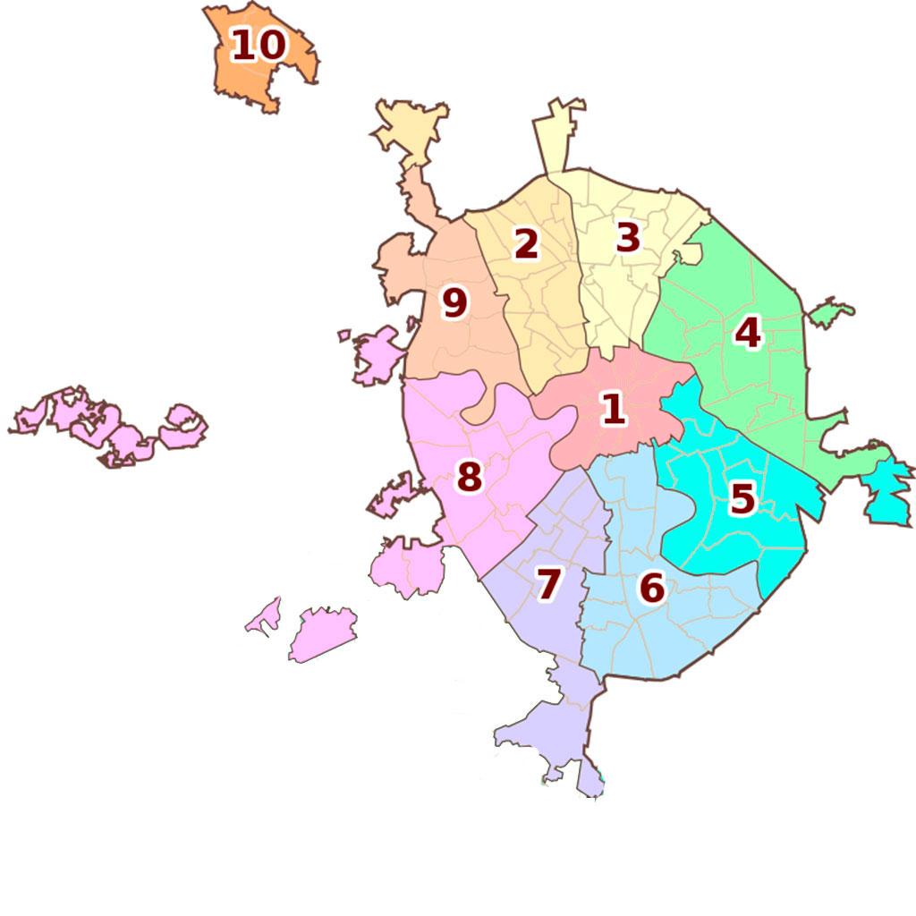 очень карта москвы с границами округов на картинке цвет, имеющий